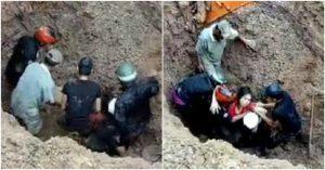Giải cứu cặp vợ chồng bị chôn sâu hơn 2m trong gần 1 giờ