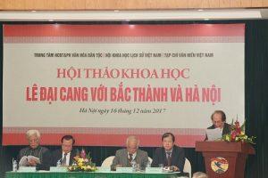 Hội thảo khoa học 'Lê Đại Cang với Bắc Thành Hà Nội'