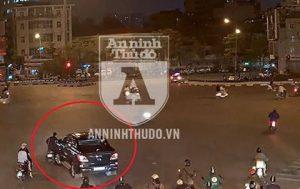 Bắt khẩn cấp đối tượng lái xe ô tô kéo lê người và xe máy ở ngã 6 Ô Chợ Dừa