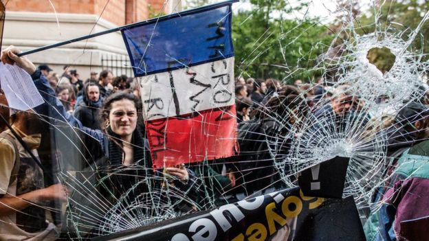 Cảnh sát Pháp bắt 200 người bạo động ngày Quốc tế Lao động