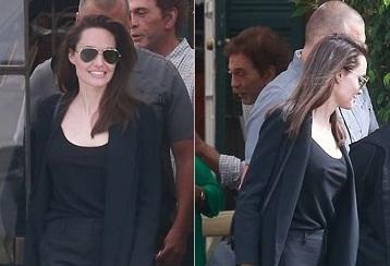 Angelina Jolie cười rạng rỡ, đi ăn cùng Pax Thiên nhân Ngày của mẹ