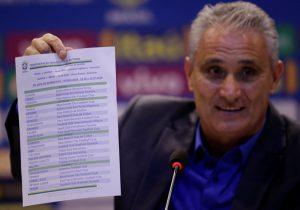 Tuyển Brazil chính thức công bố danh sách tham dự World Cup 2018