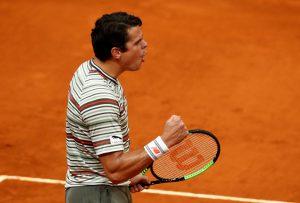 Raonic bất ngờ đánh bại Dimitrov ở vòng 2 giải Mardid Open