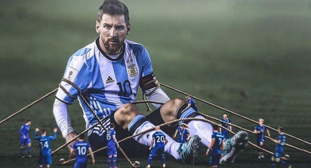 Messi mờ nhạt trước Iceland: Khi thiên tài gục ngã