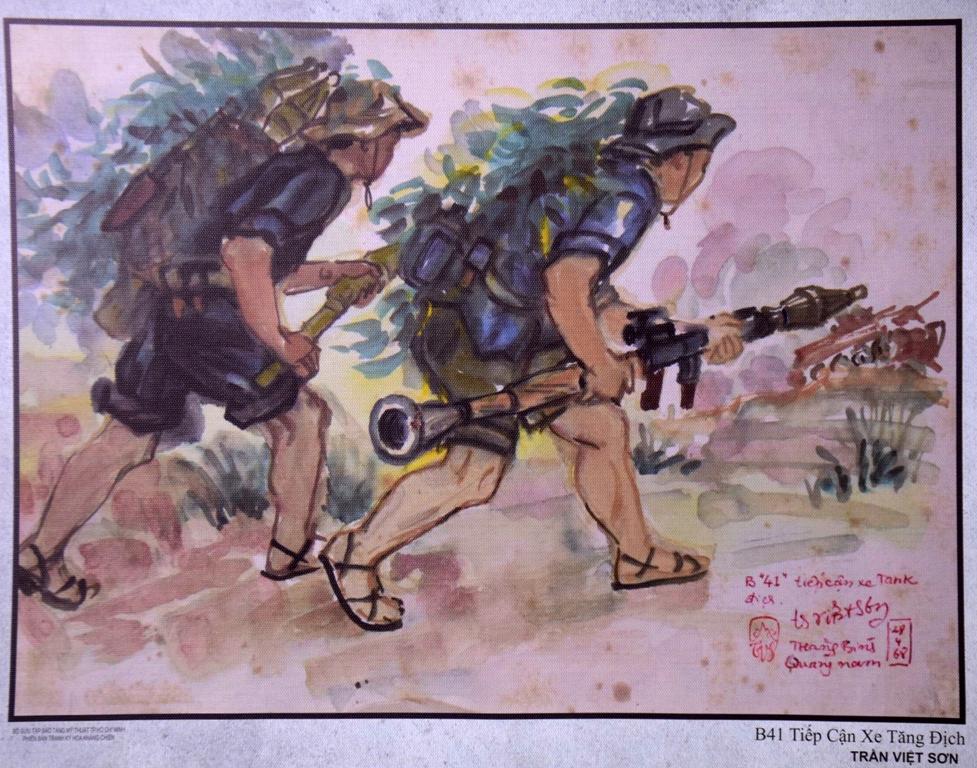 Bảo tàng Mỹ thuật Đà Nẵng khai mạc triển lãm 'Ký họa kháng chiến'
