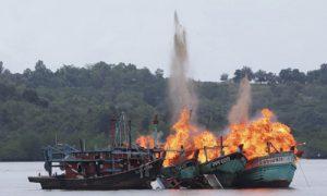 Indonesia đánh chìm 86 tàu cá Việt Nam