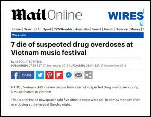 Báo chí thế giới đồng loạt đưa tin vụ 7 người chết tại lễ hội âm nhạc ở Hà Nội