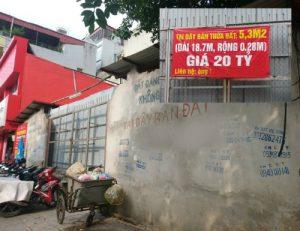 Dải đất rộng 28 cm ở Hà Nội được chủ rao bán 20 tỷ đồng