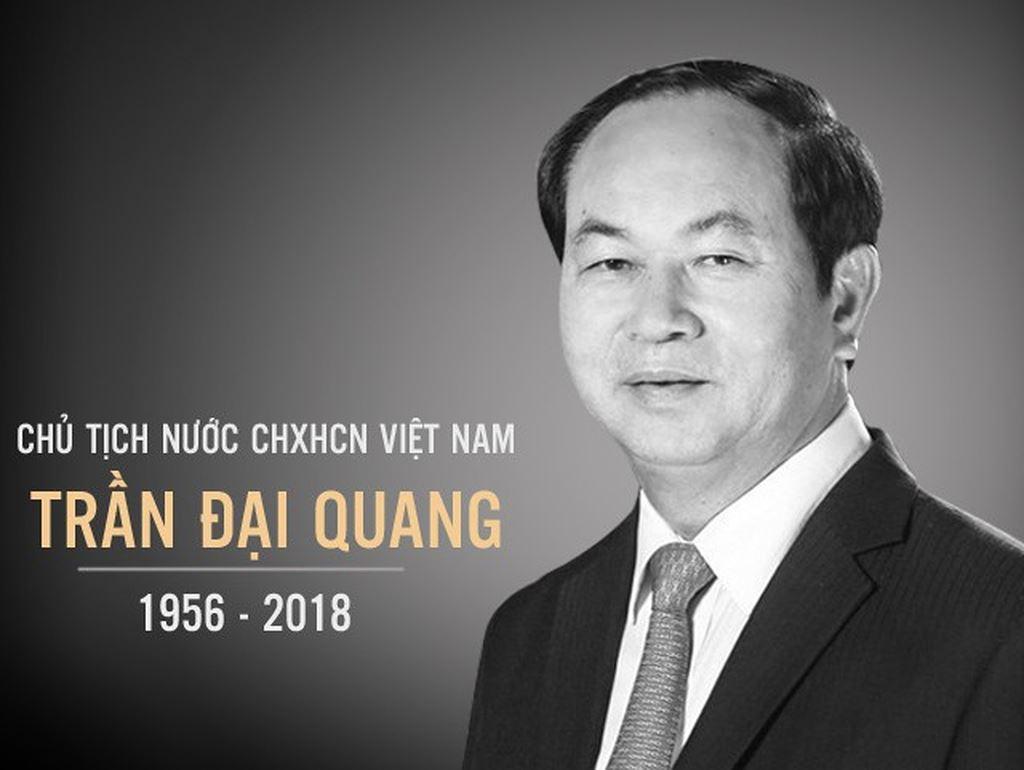 Các đoàn không mang vòng hoa khi viếng Chủ tịch nước Trần Đại Quang
