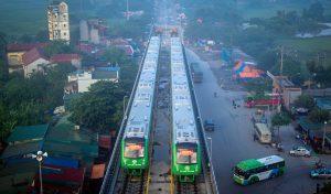 Hà Nội chạy thử 5 đoàn tàu đường sắt trên cao