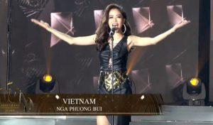 Á hậu Phương Nga vào top 10 Hoa hậu Hòa bình quốc tế