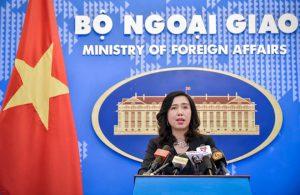 Cuộc tập trận của 5 nước ở Biển Đông, Việt Nam lên tiếng
