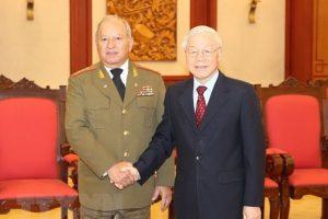 Tổng Bí thư, Chủ tịch nước Nguyễn Phú Trọng tiếp Bộ trưởng Các lực lượng vũ trang cách mạng Cu-ba
