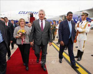 Chủ tịch Cuba bắt đầu thăm hữu nghị chính thức Việt Nam
