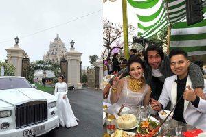 Cận cảnh tòa lâu đài tráng lệ của gia đình cô dâu đeo vàng trĩu cổ ở Nam Định