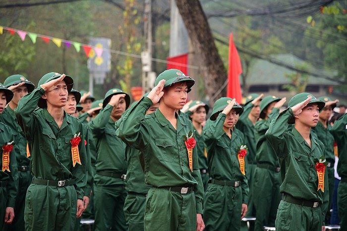 Ấn tượng cảnh thanh niên Hà Nội náo nức lên đường nhập ngũ