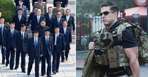 Sự khác nhau thú vị của đội quân bảo vệ Tổng thống Donald Trump và Chủ tịch Kim Jong Un
