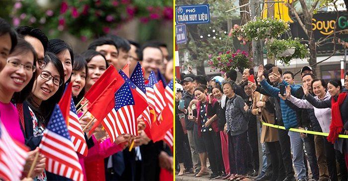 Nhà Trắng ghi lại hình ảnh người Việt hồ hởi chào đón thượng đỉnh Mỹ – Triều
