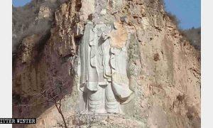 Trung Quốc cho 'thổi bay' tượng Phật Quan Âm cao nhất thế giới