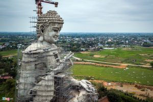 Cận cảnh bức tượng Phật lớn nhất Đông Nam Á sắp hoàn thành