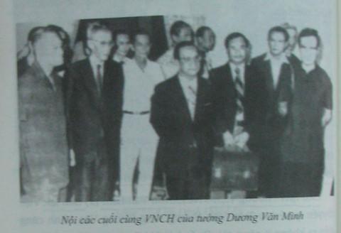 Bí mật ít biết trong nội các Dương Văn Minh ngày 30/4/1975