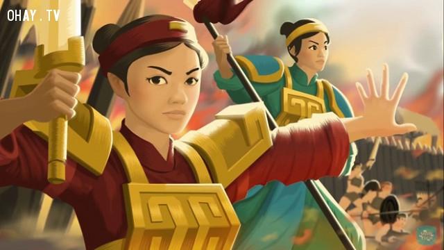 Hoàng hậu nước Việt duy nhất cầm quân đánh giặc là ai?