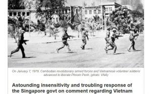 Báo Singapore thừa nhận nước này trong quá khứ ủng hộ chế độ diệt chủng Khmer Đỏ