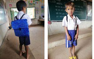 Cậu bé nghèo nổi tiếng MXH vì được bố đan cặp bằng sợi cọ