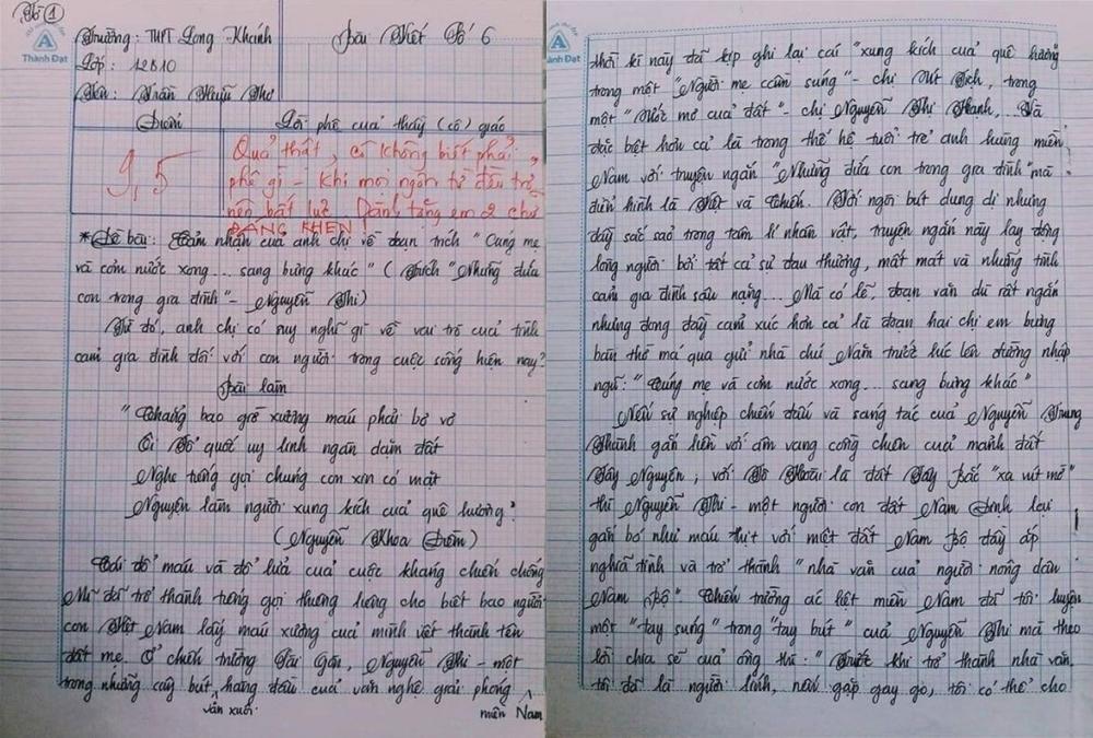 Choáng với bài văn 18 trang của nam sinh khiến cô giáo cũng không nói nên lời
