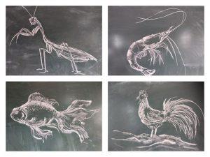 Thầy giáo Thanh Hoá gây sốt mạng nhờ tài năng vẽ tranh bằng phấn chỉ trong vài phút