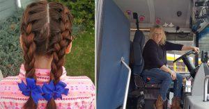 Tài xế xe buýt mỗi ngày đều tết tóc giúp cô bé mồ côi mẹ