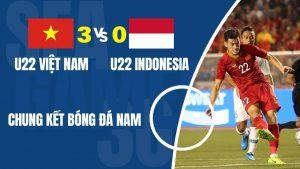 Highlights chung kết bóng đá SEA Games 30: U22 Việt Nam 3-0 Indonesia
