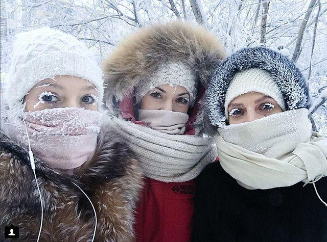 Thị trấn lạnh cóng -67 độ C đến mức lông mi phủ tuyết