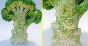 Đầu bếp Nhật biến củ quả thành tác phẩm điêu khắc tinh xảo