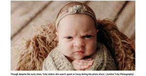 Chùm ảnh nét mặt bất bình cáu kỉnh của bé con vài tuần tuổi gây 'bão' mạng xã hội