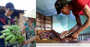 Cậu bé 16 tuổi nghỉ học đi bán chuối nuôi mẹ bị ung thư