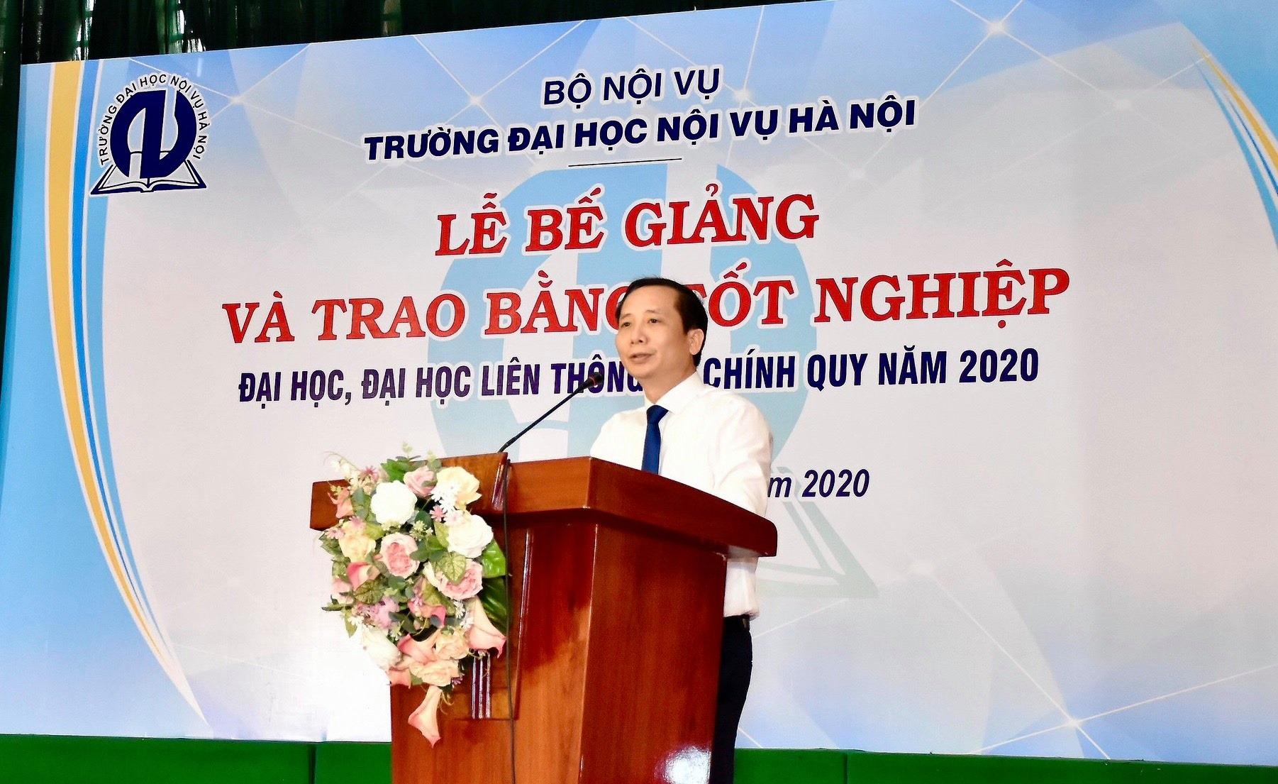 Trường Đại học Nội vụ Hà Nội tổ chức Lễ bế giảng năm 2020