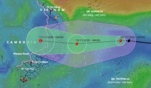 Bão số 12 giật cấp 8 hình thành trên Biển Đông, miền Trung mưa rất to