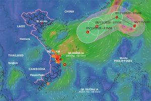 Tiếp tục xuất hiện bão Atsani giật cấp 12 gần Biển Đông