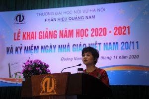Phân hiệu Trường Đại học Nội vụ Hà Nội tại Quảng Nam khai giảng năm học mới