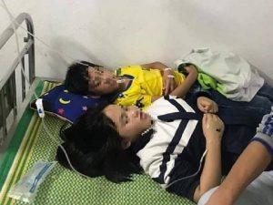 Ném đá trúng tổ ong, 16 học sinh phải nhập viện cấp cứu
