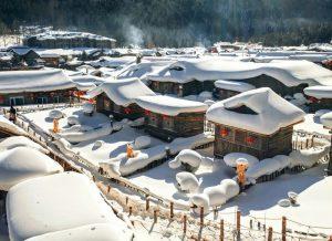 Ngôi làng suốt nửa năm bị tuyết bao phủ ở Trung Quốc