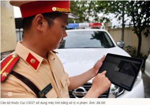 Cảnh sát giao thông sẽ xử phạt không cần giấy tờ