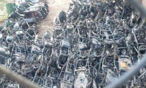 TP. Thủ Đức : Cháy bãi tạm giữ xe vi phạm tại Đội CSGT khu vực 3