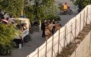 Phòng CSGT Công an TP Hà Nội nói gì về clip cảnh sát giao thông túm tóc, đấm túi bụi nam thanh niên ở ngã tư Nhổn
