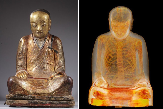 Phát hiện bí mật bên trong pho tượng Phật 1.000 năm tuổi