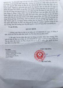 Xét xử tranh chấp QSDĐ ở tỉnh An Giang: Cần một bản án phúc thẩm khách quan, đúng pháp luật..!