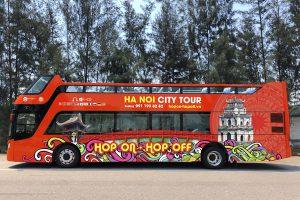 Lần đầu tiên Hà Nội có 'siêu xe buýt du lịch'