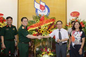 Thượng tướng Nguyễn Trọng Nghĩa thăm, chúc mừng các cơ quan báo chí Trung ương