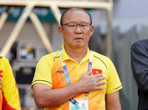 HLV Park Hang-Seo là người duy nhất 2 lần quốc ca Việt Nam và Hàn Quốc